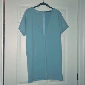 Missguided deep v shift dress